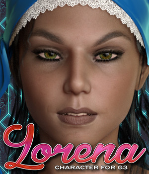 Exnem Lorena for G3 Female 3D Figure Assets exnem