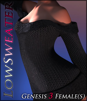 LowSweater for Genesis 3 Females 3D Figure Assets Quanto