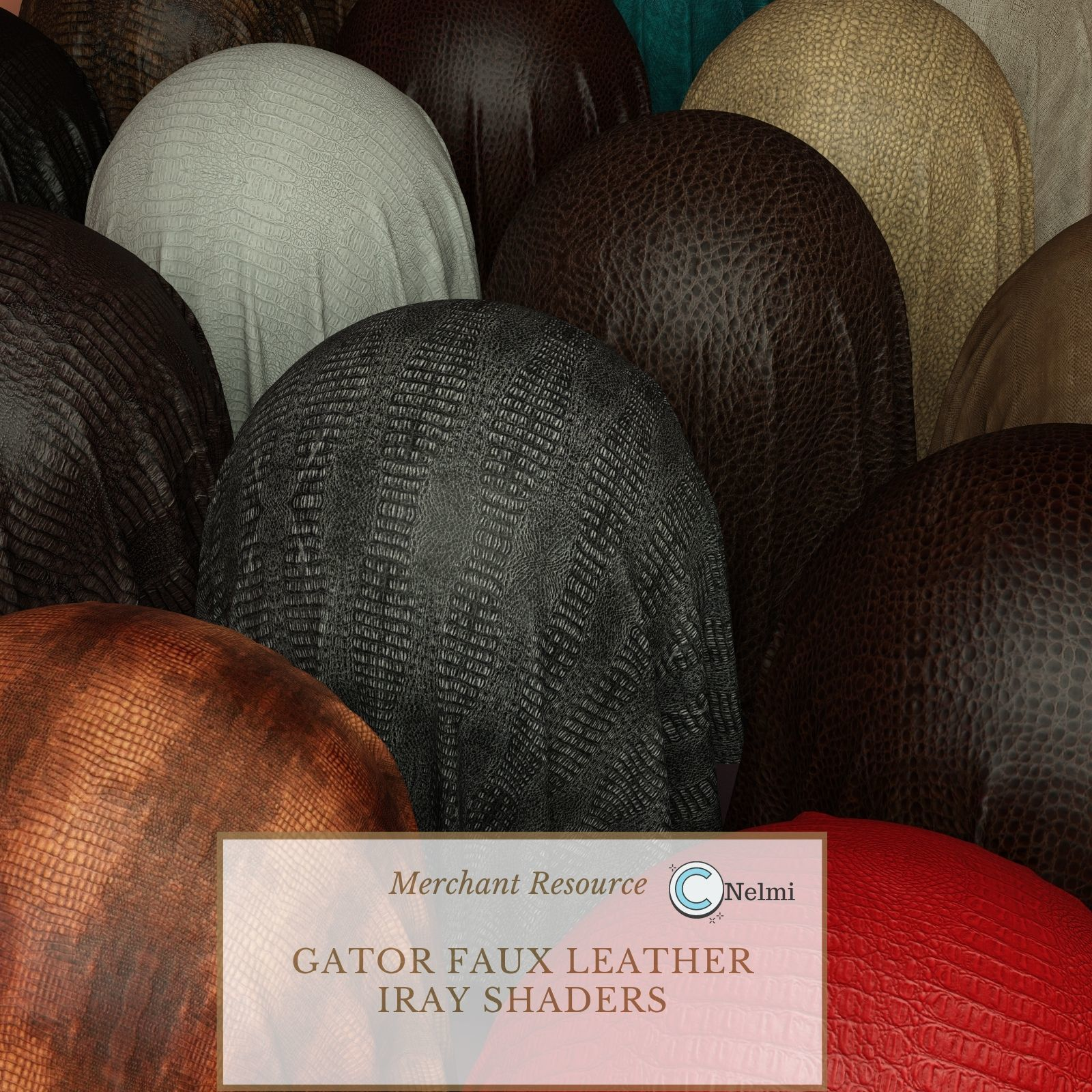 Gator Faux Leather Iray Shaders - Merchant Resource