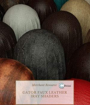 Gator Faux Leather Iray Shaders - Merchant Resource 3D Figure Assets Merchant Resources nelmi