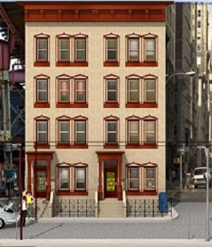 Brownstone Building Object 3D Models RHProductions