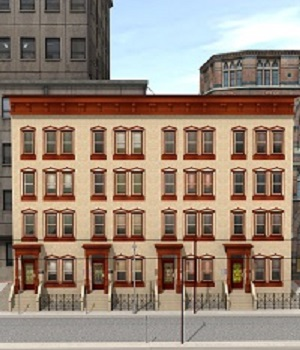 Brownstone Street object 3D Models RHProductions