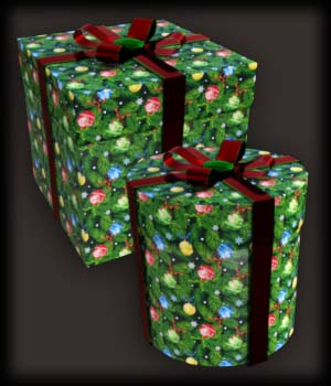 Morphing Round and Square Gift Boxes AddOn DS 3D Figure Assets EdArt3D