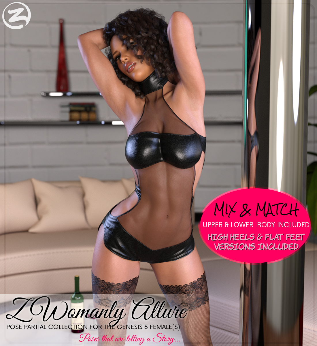 Z Womanly Allure - Poses and Partials for the Genesis 8 Females