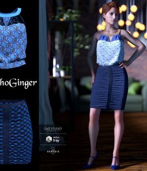 Manhattan Secretary Outfit for G8F  3D Figure Assets PsychoGinger