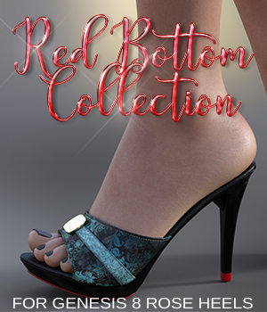 Red Carpet Collection: Rose Heels for G8F 3D Figure Assets 3DSublimeProductions