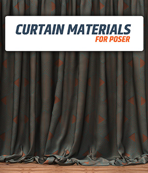 Materials for Curtains :: Poser Materials 2D Graphics Merchant Resources Cyrax3D