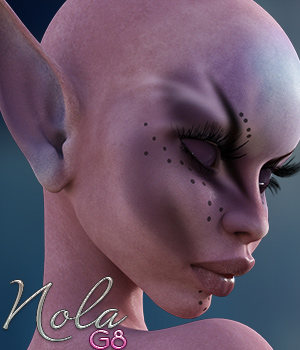 Nola for Genesis 8 Female 3D Figure Assets reciecup
