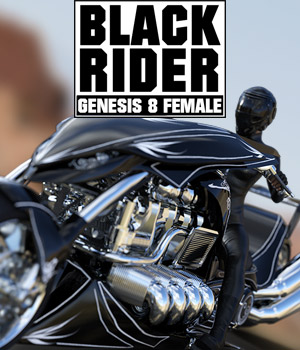 BLACK RIDER for G8F 3D Figure Assets 3D Models powerage