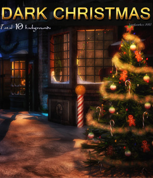 Dark Christmas - 2D Backgrounds 2D Graphics bonbonka