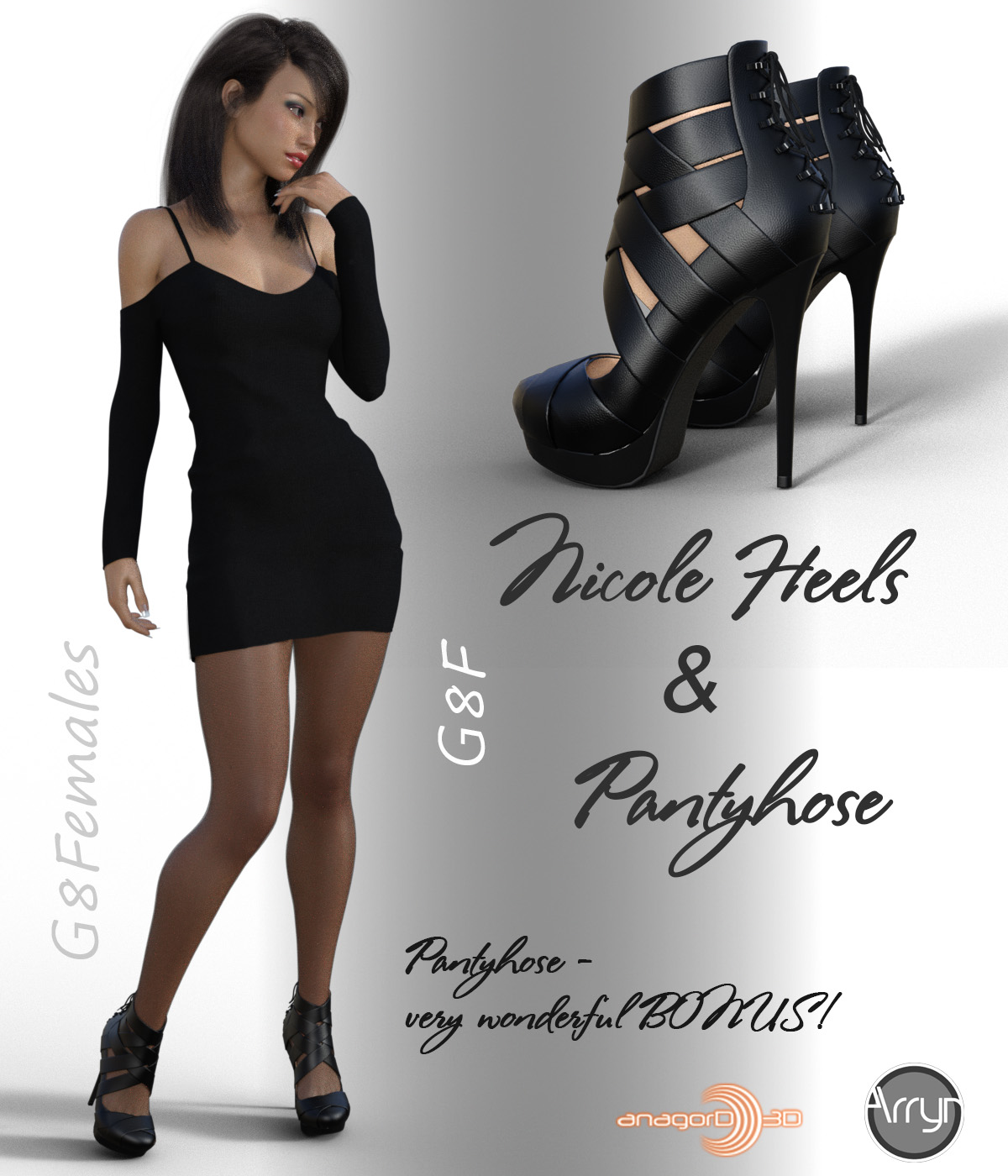 Nicole Heels and Pantyhose G8F by Arryn