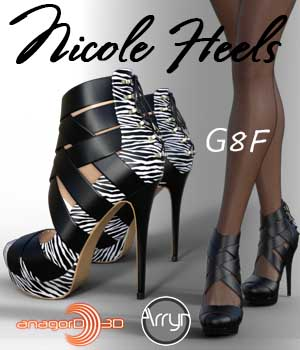 Nicole Heels and Pantyhose G8F 3D Figure Assets Arryn