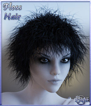 Prae-Floss Hair for G3/G8 Daz 3D Figure Assets prae