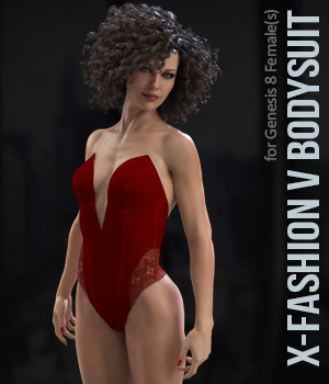 X-Fashion VBodysuit for Genesis 8 Females 3D Figure Assets xtrart-3d