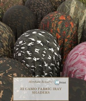 32 Camo Fabric Iray Shaders - Merchant Resource 3D Figure Assets Merchant Resources nelmi