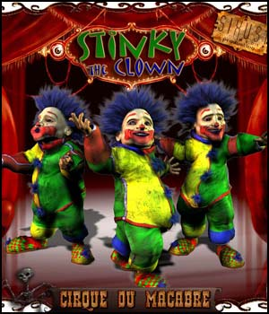 Cirque Du Macabre: Stinky The Clown Uni-Dwarf Add-on 3D Figure Assets RPublishing