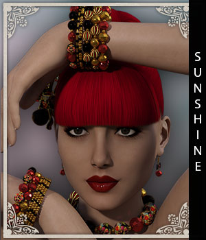 Sunshine for Raine Jewelry 3D Figure Assets sandra_bonello