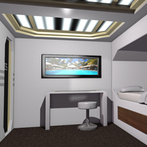 Sci Fi Bedroom for Poser image 2