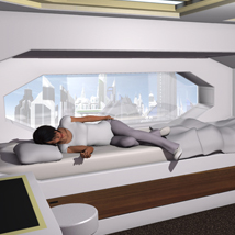 Sci Fi Bedroom for Poser image 3