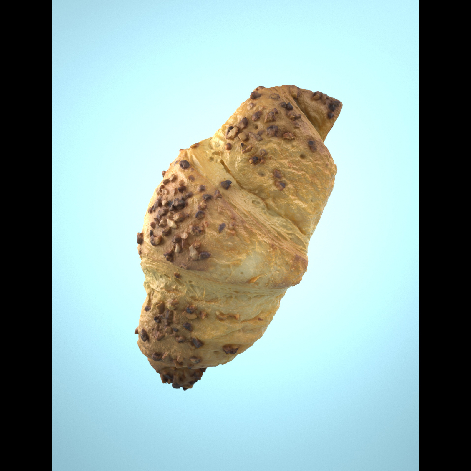 Photorealistic Delicious Chocolate Croissant 3D model - Extended License