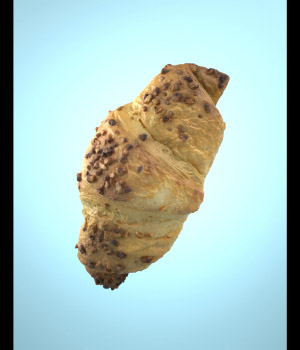 Photorealistic Delicious Chocolate Croissant 3D model - Extended License 3D Models gianniritschard