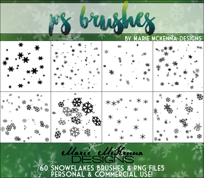 PS Brushes: Snowflakes