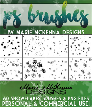 PS Brushes: Snowflakes 2D Graphics Merchant Resources MarieMcKennaDesigns