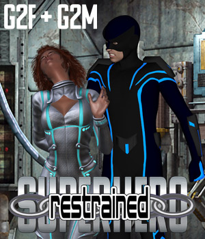 SuperHero Restrained for G2F and G2M Volume 1 3D Figure Assets GriffinFX