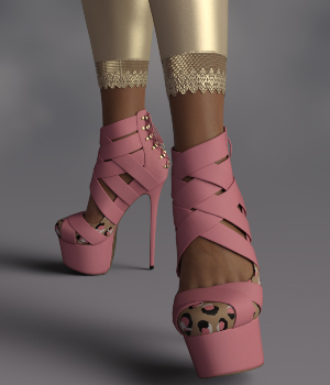 InStyle - Nicole Heels and Pantyhose G8F 3D Figure Assets -Valkyrie-