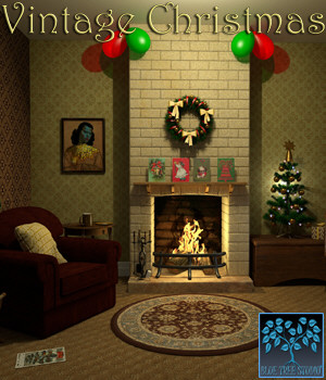 Vintage Christmas for Poser 3D Models BlueTreeStudio