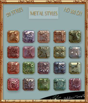 Metal Styles 2D Graphics Merchant Resources Perledesoie