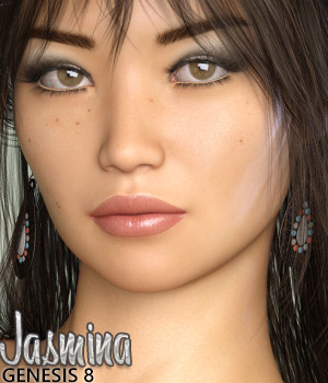 Jasmina for Genesis 8 Female 3D Figure Assets Silver