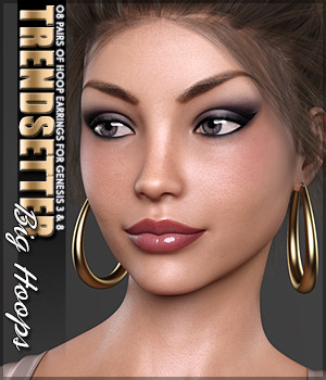 SVs Trendsetter Big Hoops Genesis 3 and 8 3D Figure Assets Sveva