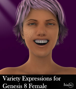 Variety Expressions For Genesis 8 Female 3D Figure Assets biala