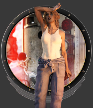 DieselPunk - Mechanic Coveralls G3-G8 F for DS 3D Figure Assets pamawo