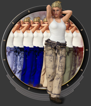 DieselPunk - Mechanic Coverall Textures for DS 3D Figure Assets pamawo