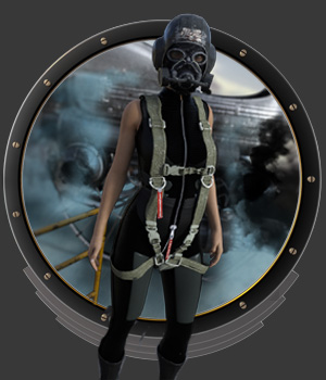 DieselPunk - Space Racer Pilot G3 G8 F for DS 3D Figure Assets pamawo