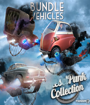 Dieselpunk bundle  3 Vehicles for Daz Studio 4.9  3D Models pamawo