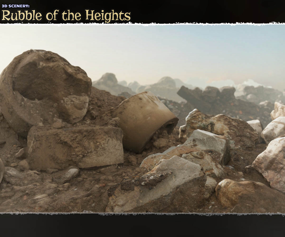 3D Scenery: Rubble of the Heights - Extended License