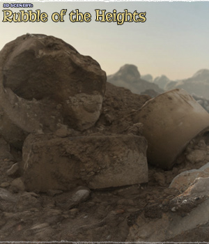 3D Scenery: Rubble of the Heights - Extended License 3D Models Extended Licenses ShaaraMuse3D