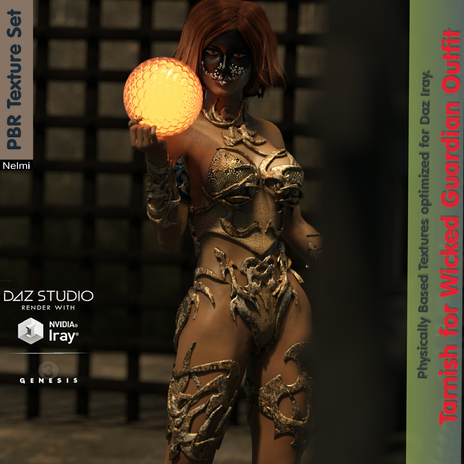 Tarnish for Wicked Guardian Outfit Texture set G3F
