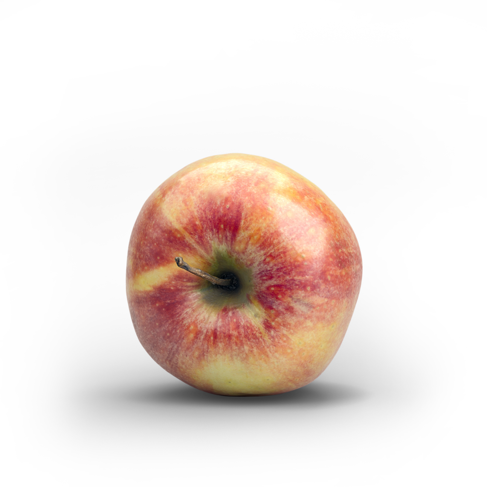 Photorealistic Fresh Red Green Apple - Extended License