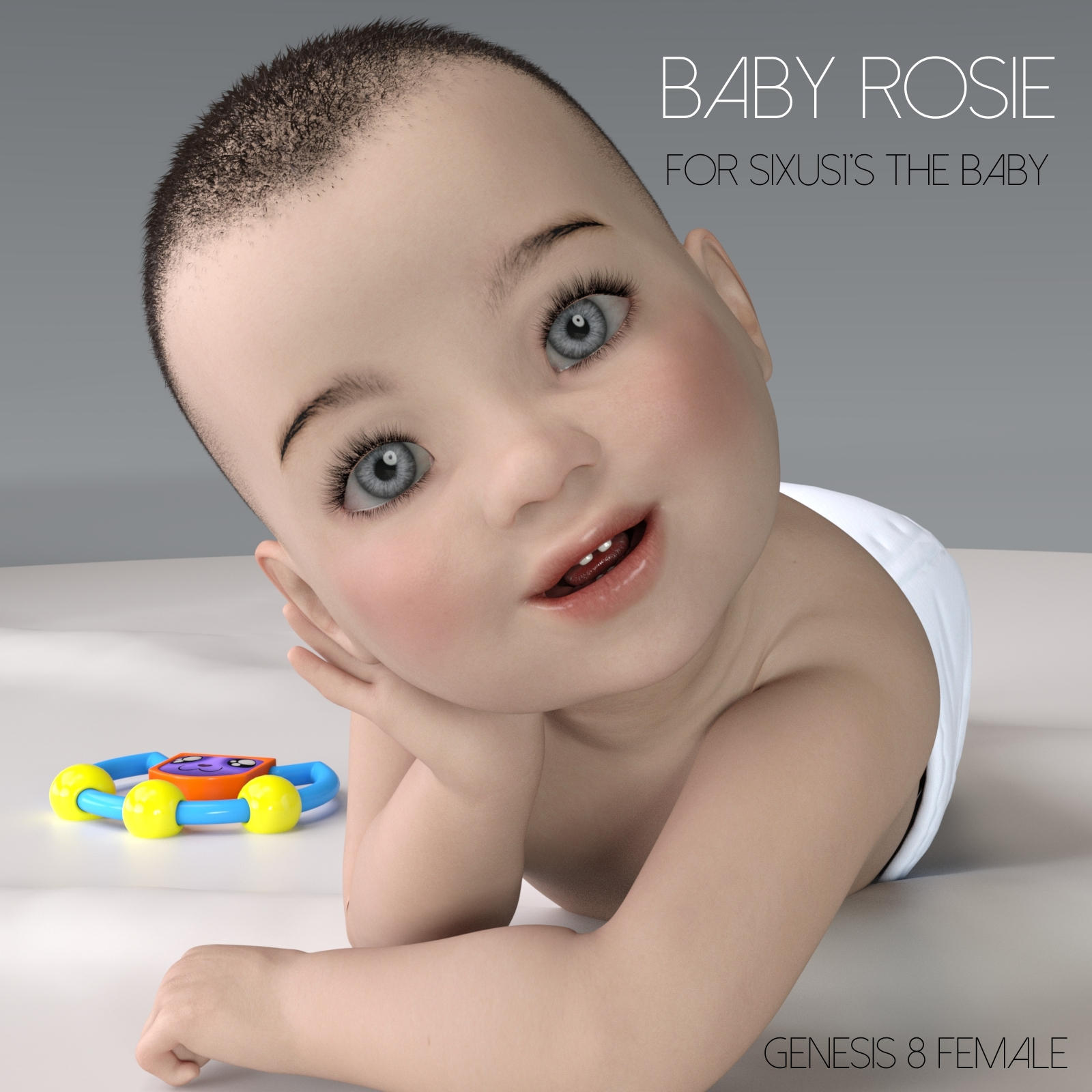 Baby Rosie character and expressions add-on for Sixus1's The Baby