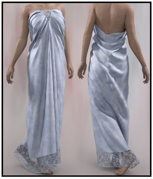 dForce - Art Deco Dress for G8F 3D Figure Assets Lully