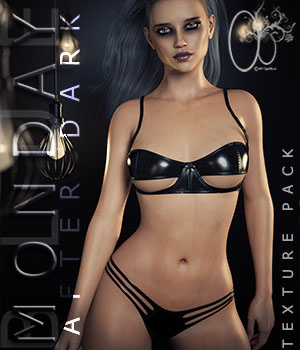 CB BLUE Monday - AfterDark- For Genesis 8 3D Figure Assets CynderBlue