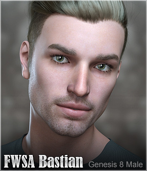 FWSA Bastian for Genesis 8 Male 3D Figure Assets Sabby
