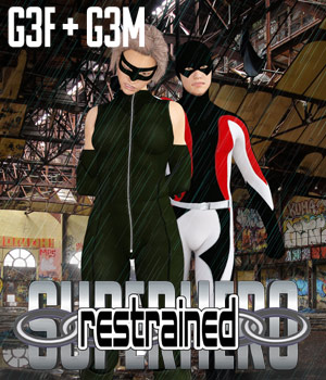 SuperHero Restrained for G3F and G3M Volume 1 3D Figure Assets GriffinFX