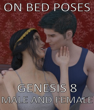 On Bed Poses for Genesis 8 Male and Female 3D Figure Assets jowolf999