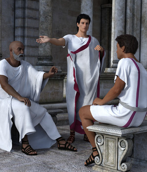 dForce Roman Toga and Tunic for Genesis 3 Male and Genesis 8 Male 3D Figure Assets Deacon215