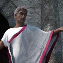 dForce Roman Toga and Tunic for Genesis 3 Male and Genesis 8 Male image 1